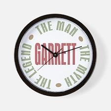 Garrett the Man Myth Legend Wall Clock
