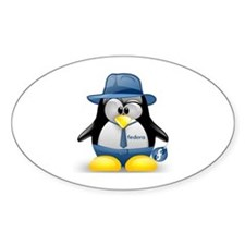 Fedora Tux Oval Decal