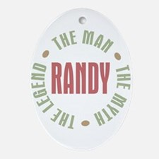 Randy Man Myth Legend Oval Ornament