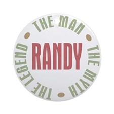 Randy Man Myth Legend Ornament (Round)