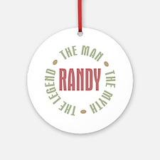 Randy Man Myth Legend Ornament (Round)