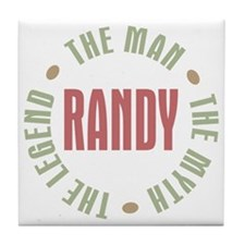 Randy Man Myth Legend Tile Coaster