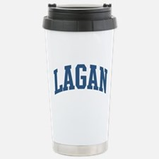 Lagan Last Name Collegiate Stainless Steel Travel