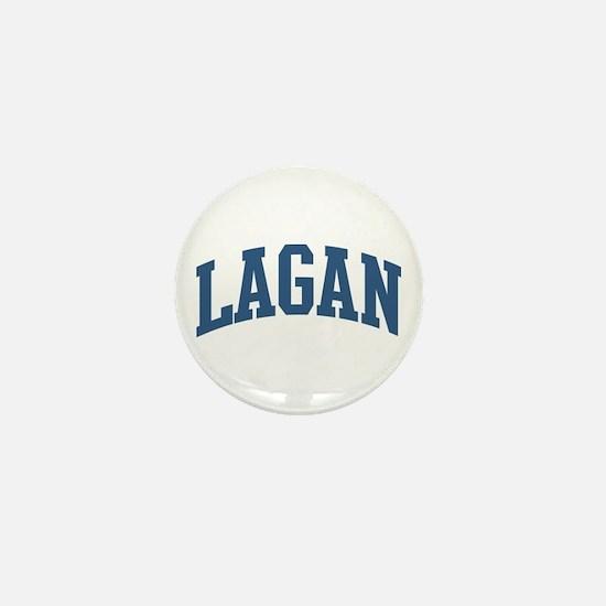 Lagan Last Name Collegiate Mini Button