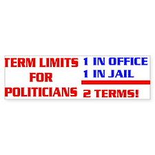 TERM LIMITS FOR POLITICIANS Bumper Bumper Sticker
