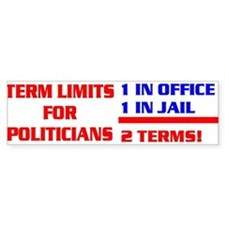 TERM LIMITS FOR POLITICIANS Bumper Sticker