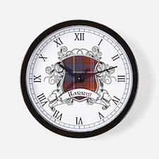 Harris Tartan Shield Wall Clock