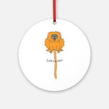 Golden lion tamarin Ornament (Round)