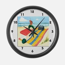 Relax at the Beach Large Wall Clock