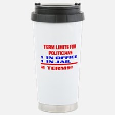 TERM LIMITS FOR POLITICIANS Stainless Steel Travel