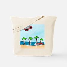 Cruising the Beach Tote Bag