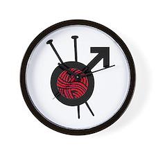 Men Who Knit Wall Clock