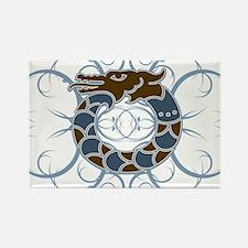 Tribal Dragon Design Rectangle Magnet