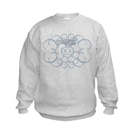 Tribal Dragon Design Kids Sweatshirt