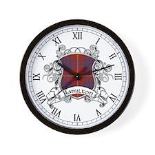Hamilton Tartan Shield Wall Clock