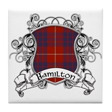 Hamilton Tartan Shield Tile Coaster