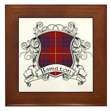 Hamilton Tartan Shield Framed Tile