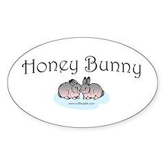 Honey Bunny Oval Decal