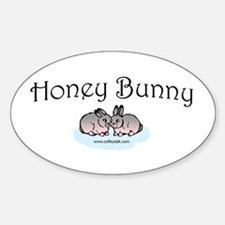 Honey Bunny Oval Decal