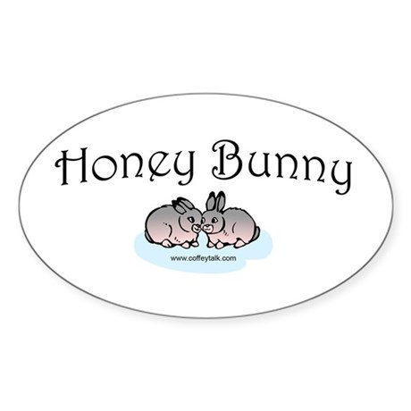 Honey Bunny Oval Sticker