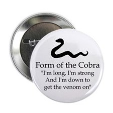 "2.25"" Form of the Cobra Discipline Button"