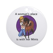 B Woman's Place Ornament (Round)