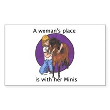 B Woman's Place Rectangle Decal