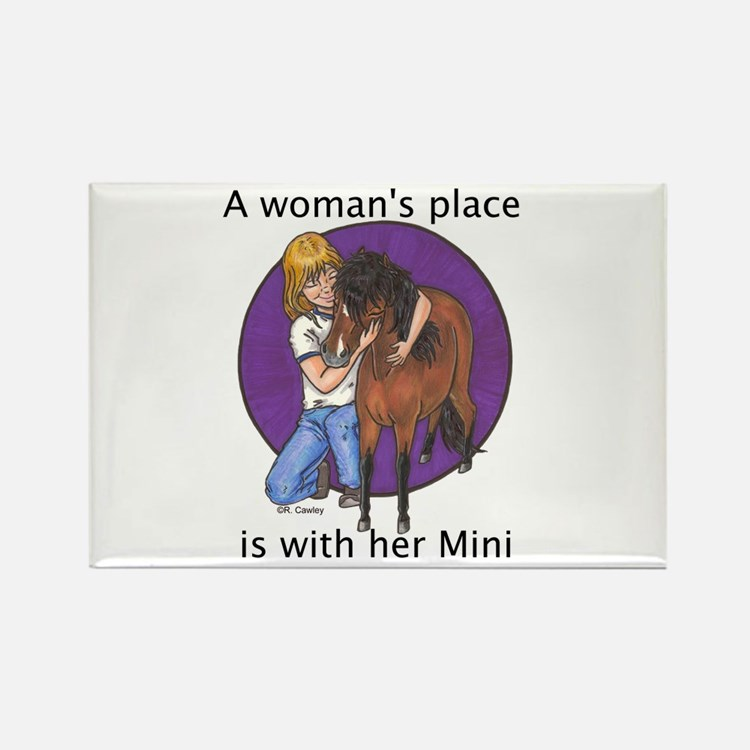 B Woman's Place2 Rectangle Magnet