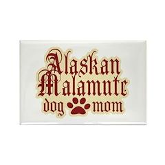 Alaskan Malamute Mom Rectangle Magnet