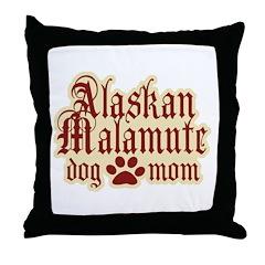 Alaskan Malamute Mom Throw Pillow