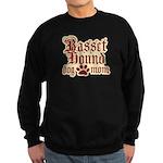 Basset Hound Mom Sweatshirt (dark)