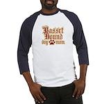 Basset Hound Mom Baseball Jersey