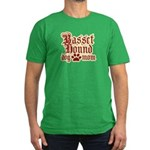 Basset Hound Mom Men's Fitted T-Shirt (dark)