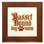 Basset Hound Mom Framed Tile