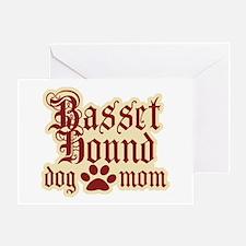 Basset Hound Mom Greeting Card