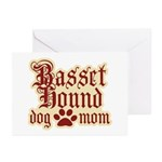 Basset Hound Mom Greeting Cards (Pk of 20)