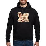Basset Hound Mom Hoodie (dark)