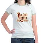 Basset Hound Mom Jr. Ringer T-Shirt