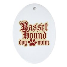 Basset Hound Mom Ornament (Oval)