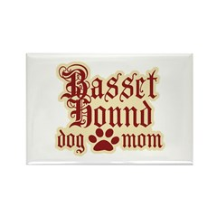 Basset Hound Mom Rectangle Magnet (10 pack)