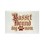 Basset Hound Mom Rectangle Magnet (100 pack)