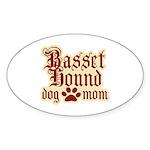 Basset Hound Mom Sticker (Oval 10 pk)
