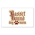 Basset Hound Mom Sticker (Rectangle)