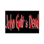 John Galt is Dead Rectangle Magnet (10 pack)
