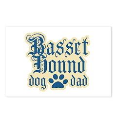 Basset Hound Dad Postcards (Package of 8)