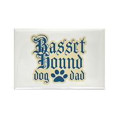 Basset Hound Dad Rectangle Magnet (100 pack)