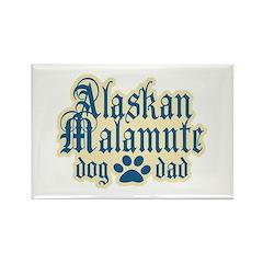 Alaskan Malamute Dad Rectangle Magnet (10 pack)