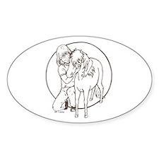 Mini Love Oval Decal