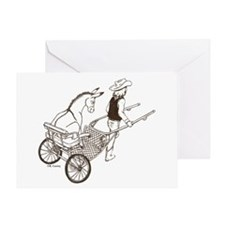 Donkey Cart Greeting Card