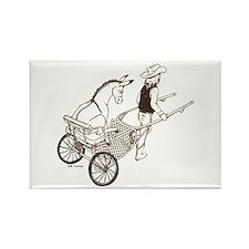 Donkey Cart Rectangle Magnet